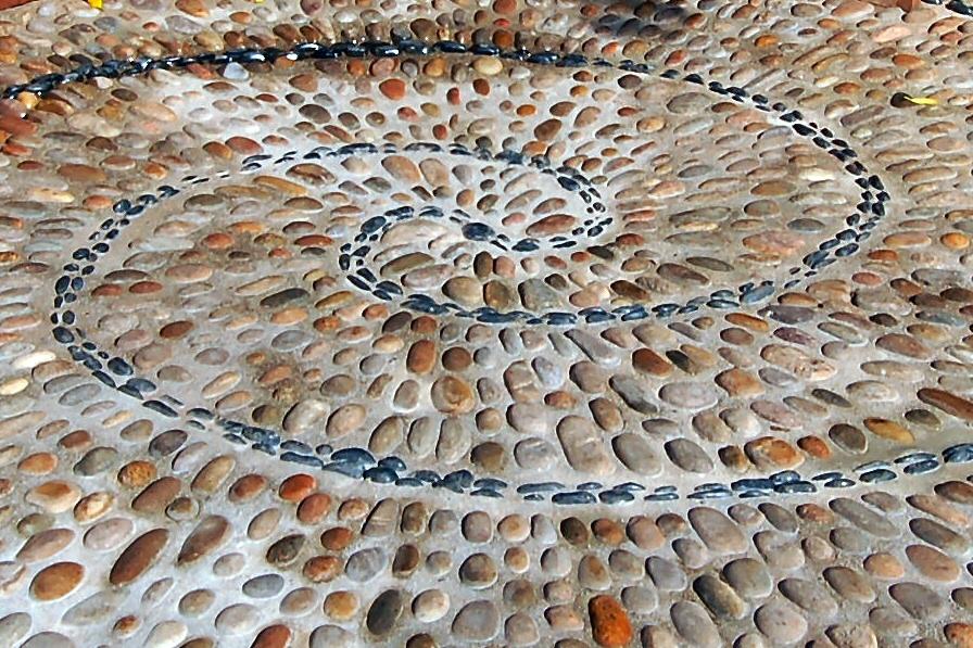 Cobble Stone Mosaics : Lake district garden design cumbria buzy