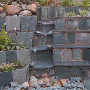 Honister slate water feature