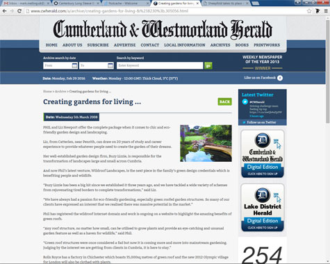 Cumberland and Westmorland Herald article